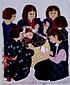 絵画 日本画 「雪囲童」 真嶋元枝