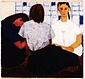 絵画 日本画「女学生」 真嶋元枝