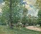 牧草地の牛、ルーヴシエンヌ