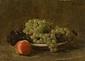 葡萄と桃のある静物