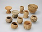 西畑屋遺跡出土神まつりの土製品 杯、壺形
