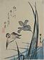 燕子花に雀