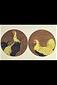 鶏(2種)[陶器図案]