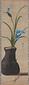 燕子花にハサミ図