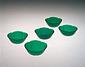 型吹き緑色桔梗形ガラス鉢