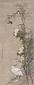 翠柳芙蓉白鷺小禽図