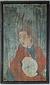地球儀を持つ西洋人物図(伝コロンブス像)