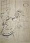 異国男女子供に菊図○横浜異国人物図 (無題・下絵)