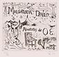 版画集『瑛九・銅版画 SCALE IV』 63 「MALGRANDA DIABLO」の扉絵
