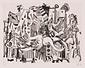 版画集『瑛九・銅版画 SCALE II』 6 鳥と女