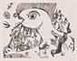 版画集『瑛九・銅版画 SCALE II』 20 魚のたたかい
