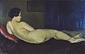 横たはれる裸体の習作