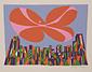 高井貞二石版画集『ニューヨーク』 1 「マンハッタン」