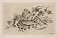 木の葉の上の魚 (鮒)