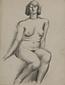 裸婦[正面を向いて座る裸婦]