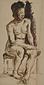 裸婦[椅子に腰掛ける裸婦(日本人)]