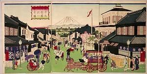 東京駿河衛国立銀行繁栄図