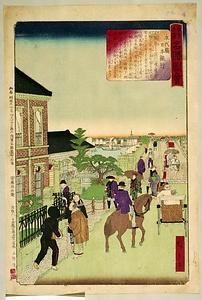東京土産名勝図絵 永代橋日本銀行