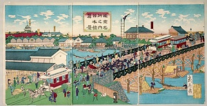 東京名所之内日本橋真景