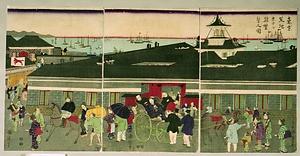 東京築地ホテル館繁栄之図