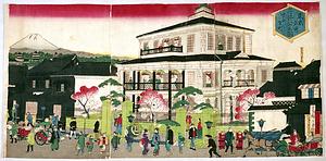 東京名所 三ツ井ハウス図 する賀町