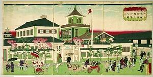 東京蠣売街第五国立銀行繁栄之図