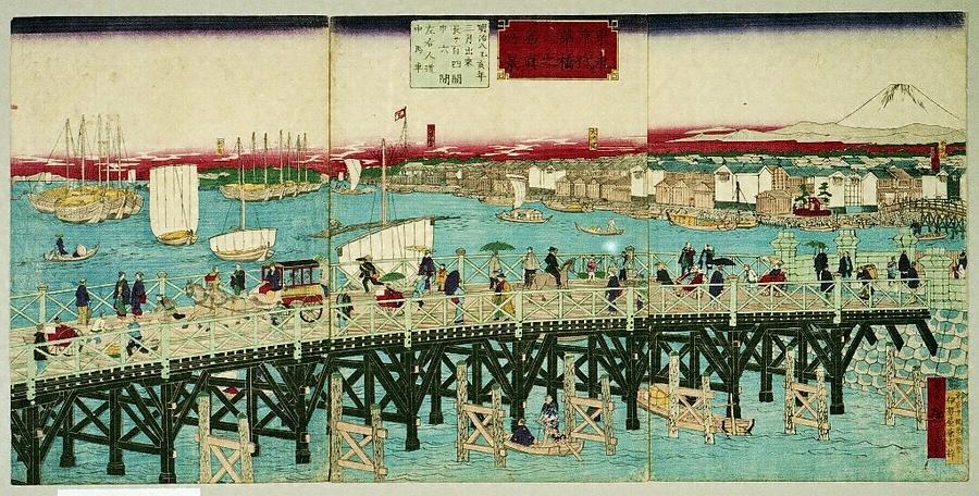 東京第一名所 永代橋之真景
