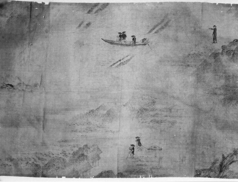 水害地の郵便集配の図(甚目寺郵便局)