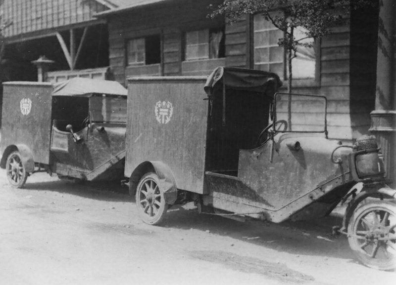 郵便逓送用自動三輪車