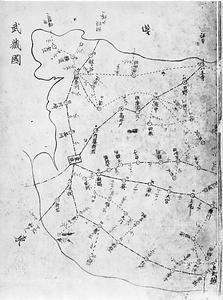 郵便線路図(武蔵国)