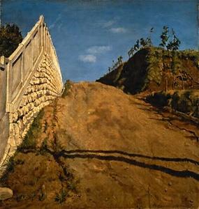 「風景画道路と土手と塀」の画像検索結果
