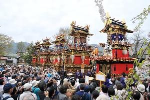 古川祭の起し太鼓・屋台行事  ふるかわまつりのおこしだいこ・やたいぎょうじ