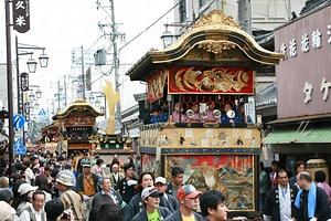上野天神祭のダンジリ行事 うえのてんじんまつりのだんじりぎょうじ