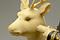牙彫鹿背仙翁置物