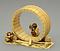 牙彫猿の桶作り置物