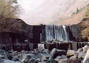 稲荷川第十砂防堰堤 いなりがわだいじゅうさぼうえんてい