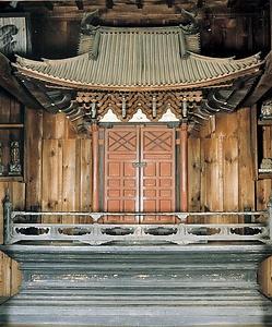 大法寺観音堂厨子及び須弥壇  だいほうじかんのんどうずしおよびしゅみだん